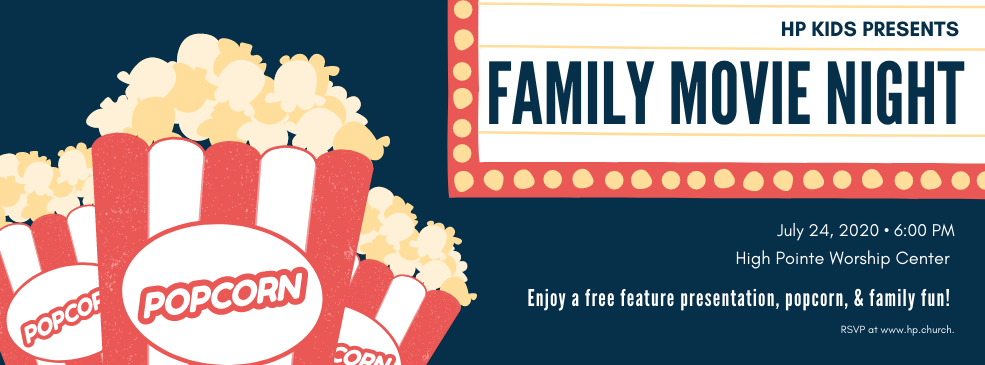 hp kids family movie night slider